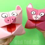 Pig Cootie Catcher Craft
