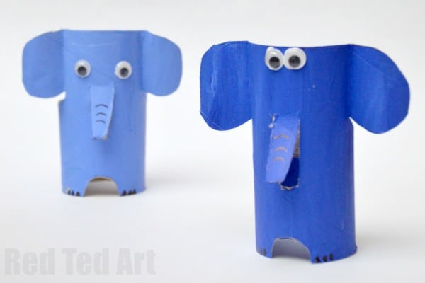 E is for Elephant. Adorable Toilet Paper Roll Elephant craft for preschool. Explore the A-Z Alphabet with Animal Toilet Roll Crafts #toiletpaperrolls #toiletrolls #elephants #preschool
