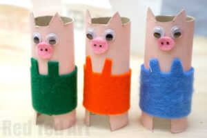 Pig Crafts For Kids For Farmyard Crafts And Fairt Tales Red Ted Art