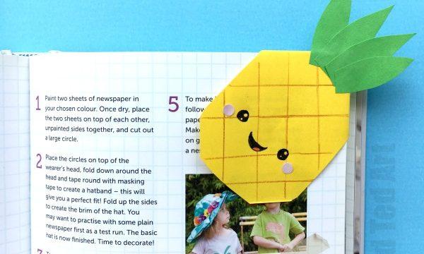 Pineapple Bookmark Corner Design