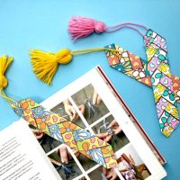 Paper Weaving Printable Bookmark