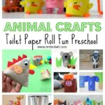 Toilet Paper Roll Animal Crafts for Preschool