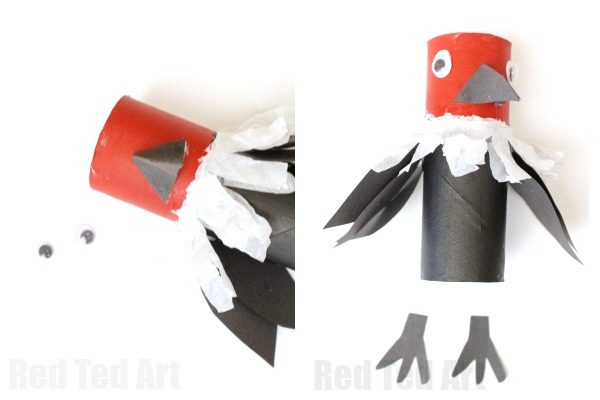Toilet Paper Roll Vulture Craft Red Ted Arts Blog