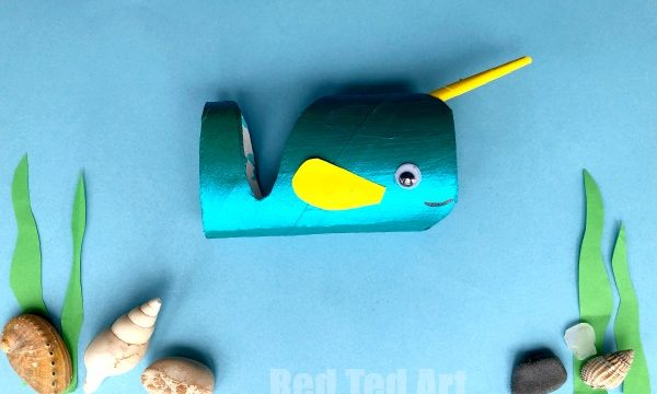 Toilet Paper Roll Narwhal Craft