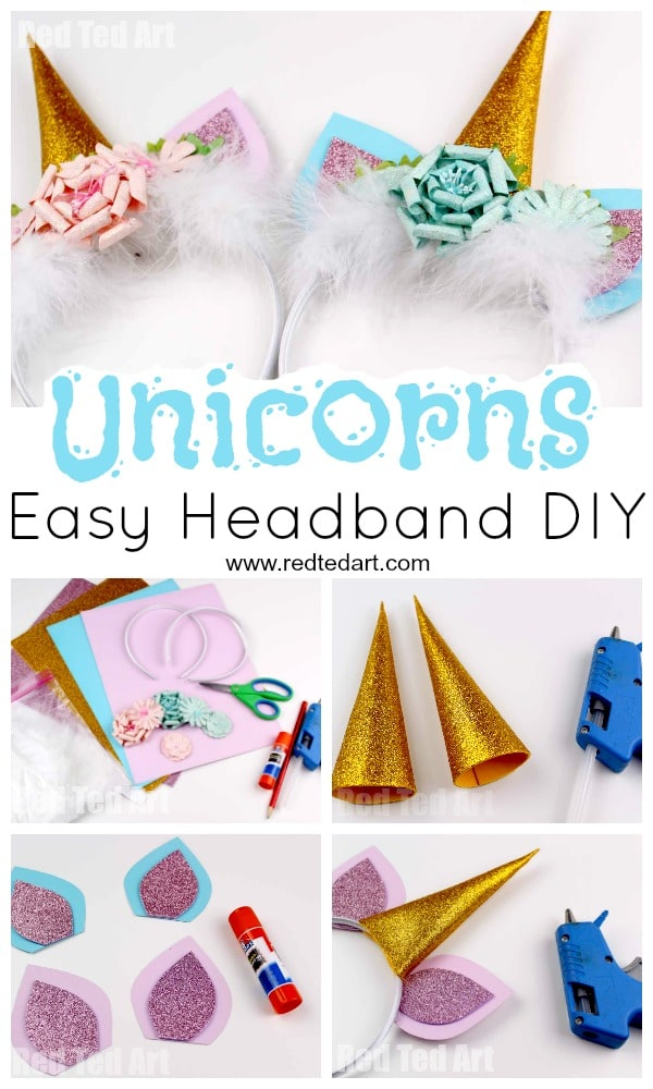 Uniconr Headband DIY - super easy no sew Unicorn Costume DIY. These Unicorn  Headbands would 0d758f71cac