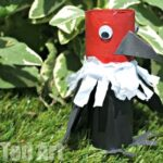 Toilet Paper Roll Vulture Craft