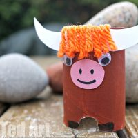 Toilet Paper Roll Yak – Y is for Yak