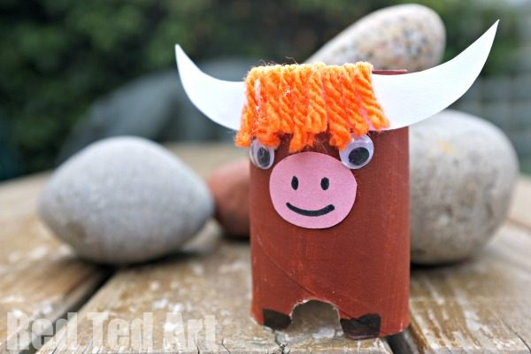 Highland Cow Toilet Paper Roll Craft - great for year of the ox too