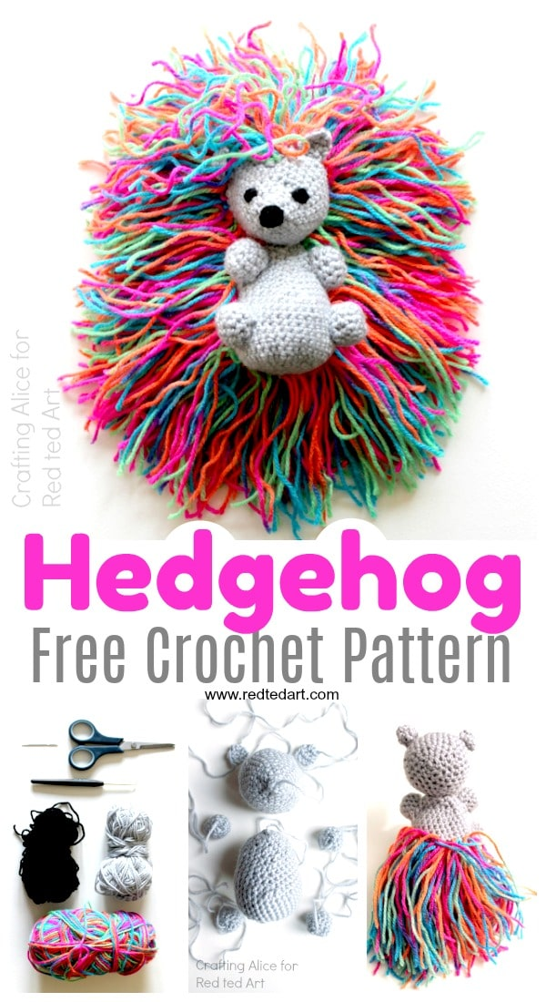 Free Hedgehog Crochet Pattern Red Ted Arts Blog
