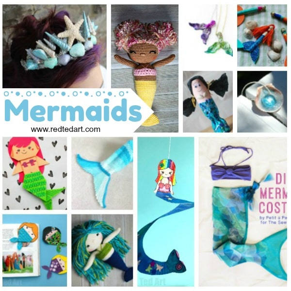 DIY Mermaid Craft Ideas - super cute Mermaid DIYs - from Mermaid Costumes and Mermaid Dress Ups, to adorable Paper Mermaid Crafts such as Mermaid Corner Bookmarks and Origami! #Mermaids #summer #mermaid #diy #papercrafts #costumes #forkids #foradults