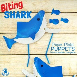 Shark craft ideas for preschool red ted art 39 s blog for Paper plate puppets templates