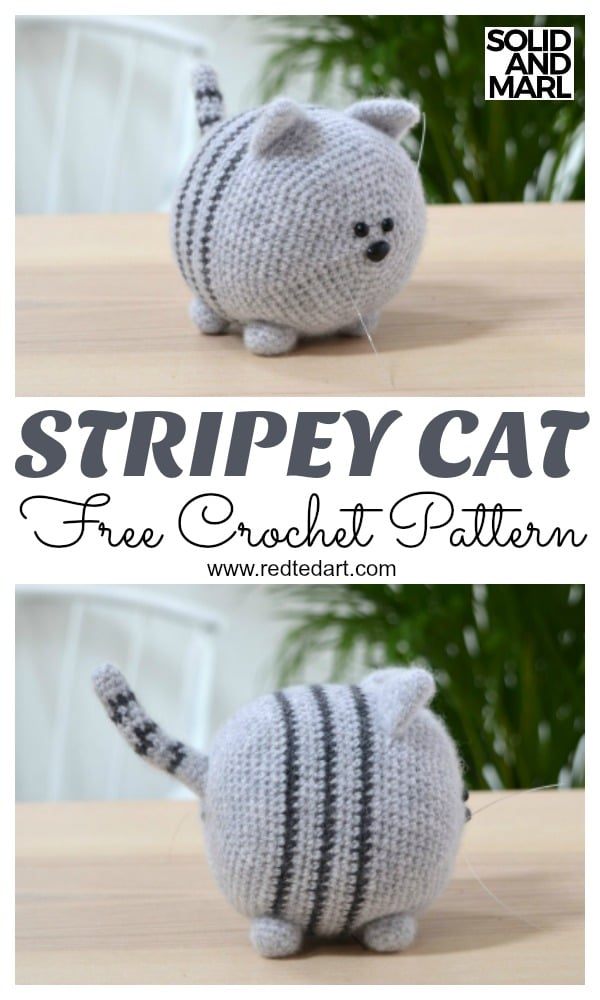 Free Cat Crochet Pattern - Red Ted Art