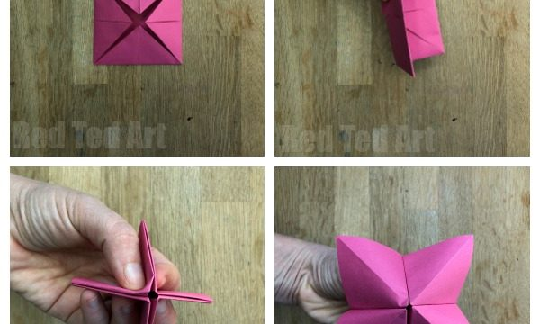 How to make a Cootie Catcher Step by Step Instructions