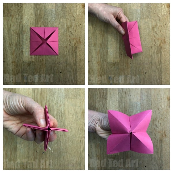 How to make a Cootie Catcher Step by Step Instructions - Learn how to make a Fortune Teller and how to play with them!! Easy Origami for Kids #cootiecatcher #fortuneteller #chatterbox #origami #forkids #papercrafts #paper