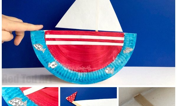 Rocking Paper Plate Boat