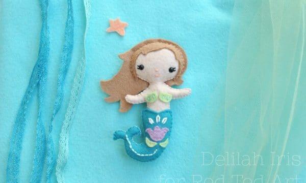Little Felt Mermaid Pattern