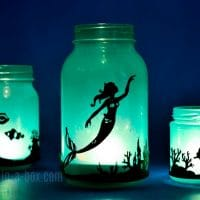 DIY Mermaid Lantern Jar