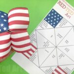American Flag Cootie Catcher Printable
