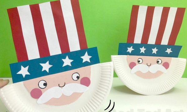 Paper Plate Uncle Sam for Preschool