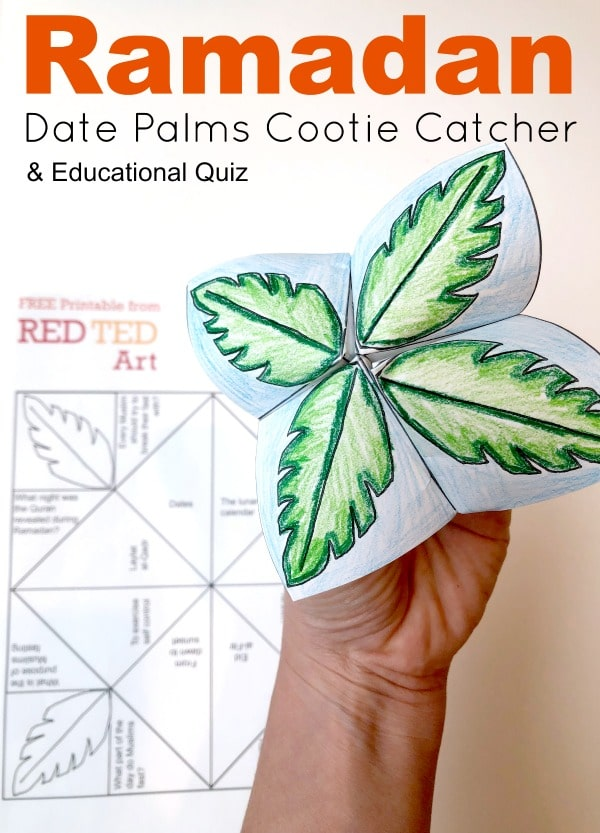 photo regarding Printable Cootie Catcher Template titled Ramadan Cootie Catcher Printable - Pink Ted Artwork