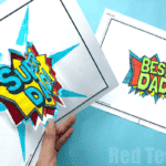 Pop Up Best Dad Card Printable
