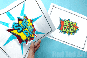 Best Dad and Super Dad printable cards