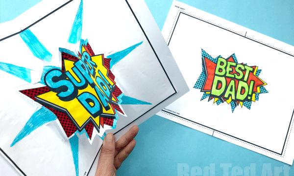 Pop Up Best Dad Card Printable