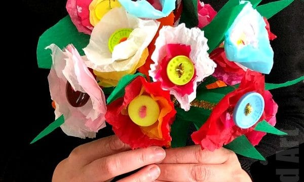 Tissue Paper Flower Bouquet