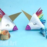 Toilet Paper Roll Unicorn Gift Box