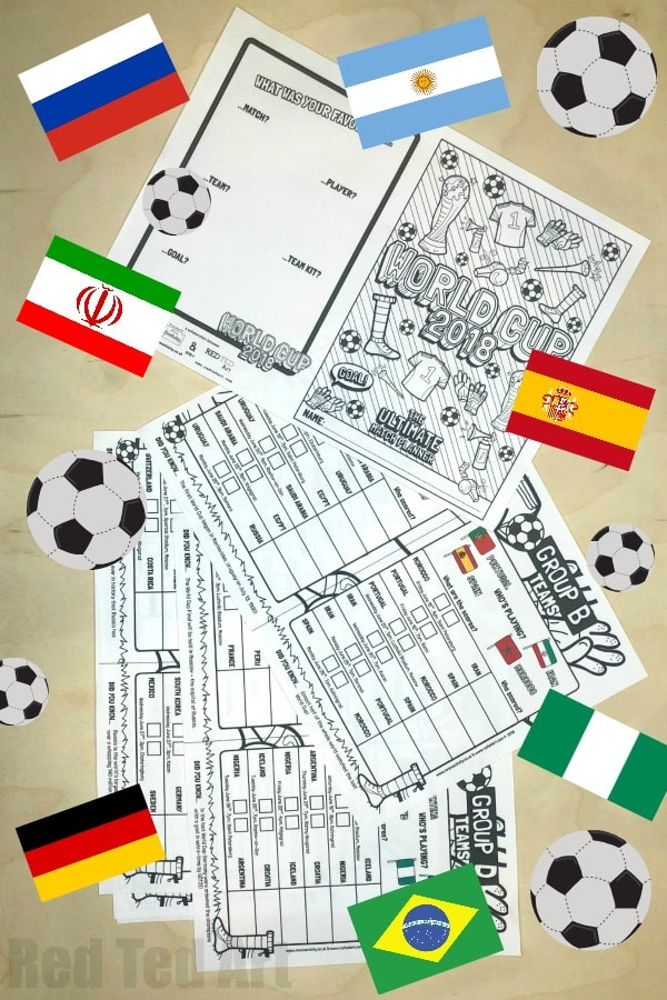 picture relating to World Cup Printable Schedule named Planet Cup Sport Planner Printable - Crimson Ted Artwork