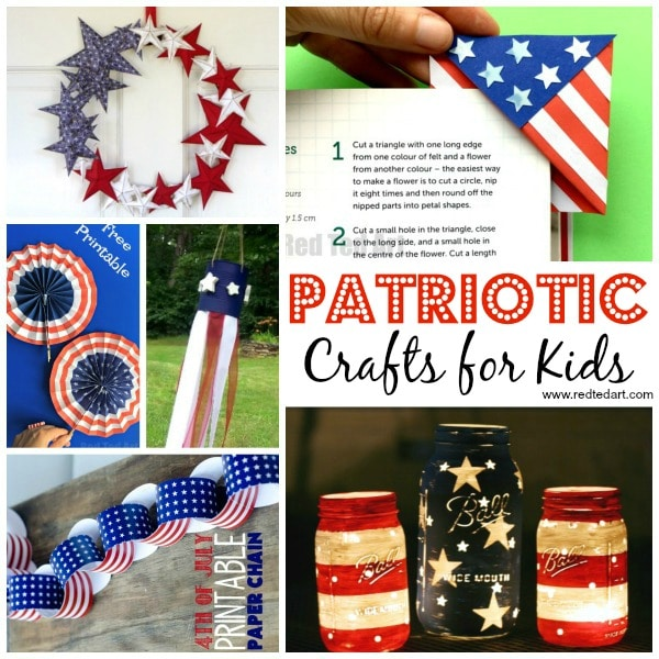 19 Great American Flag Crafts For Kids Red Ted Art