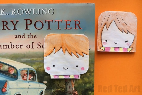 image relating to Printable Harry Potter Bookmarks known as Harry Potter Corner Bookmarks - Pink Ted Artwork