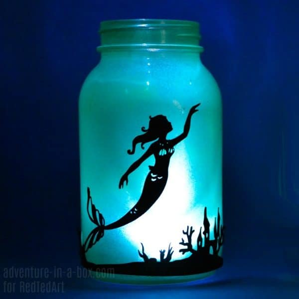 Diy Mermaid Lantern Jar Red Ted Art