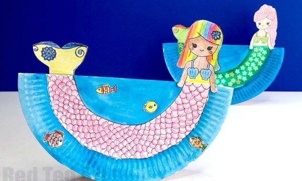 Rocking Paper Plate Mermaid