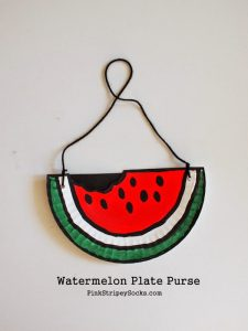 Similary Paper Plates make great Watermelon Paper Plate Purse too. Love this watermelon design by Pink Stripey Socks! & DIY Watermelon Craft Ideas - Red Ted Artu0027s Blog
