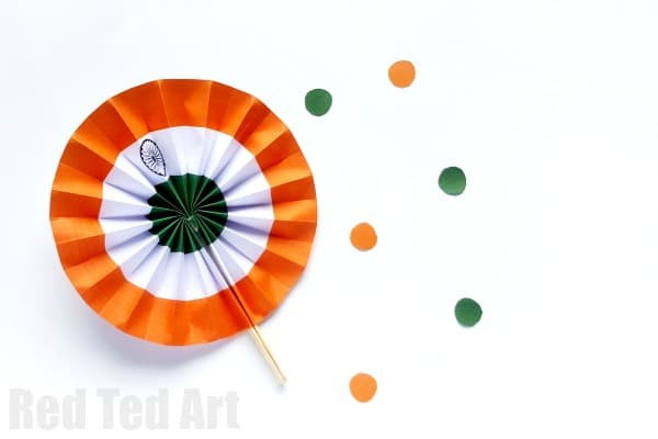 Indian Flag Paper Fans Printable - Red Ted Art\'s Blog