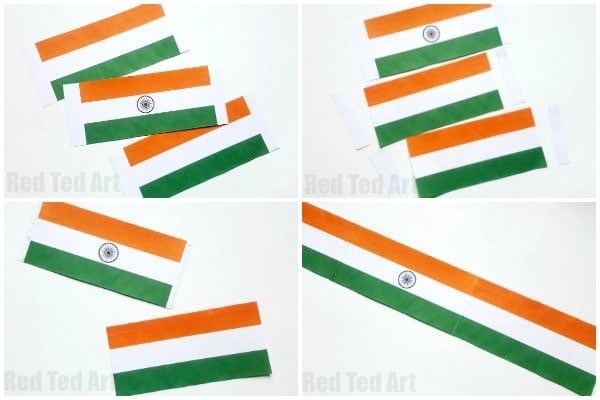 Craft For Flag Of India: Indian Flag Paper Fans Printable