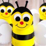 Bee Cup Craft for Preschoolers