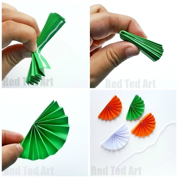 Paper Fan Bunting For Indian Independence Day Red Ted Art S Blog