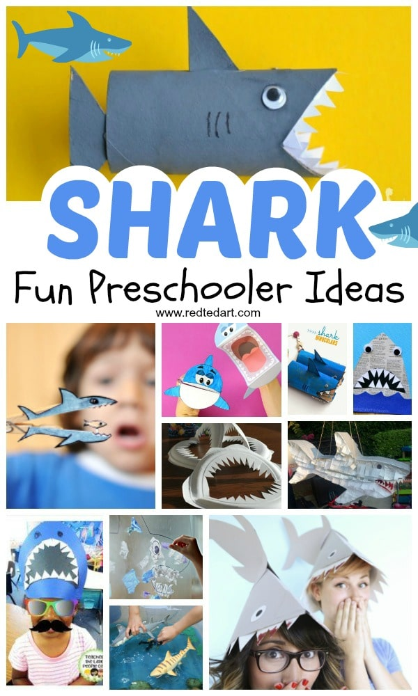 Shark Craft Ideas for Preschool. Shark Week Ideas. Shark Crafts for Preschoolers. Shark Art And Craft Ideas. Shark craft template. Shark craft printable. #sharks #oceans #preschool #sharkweek