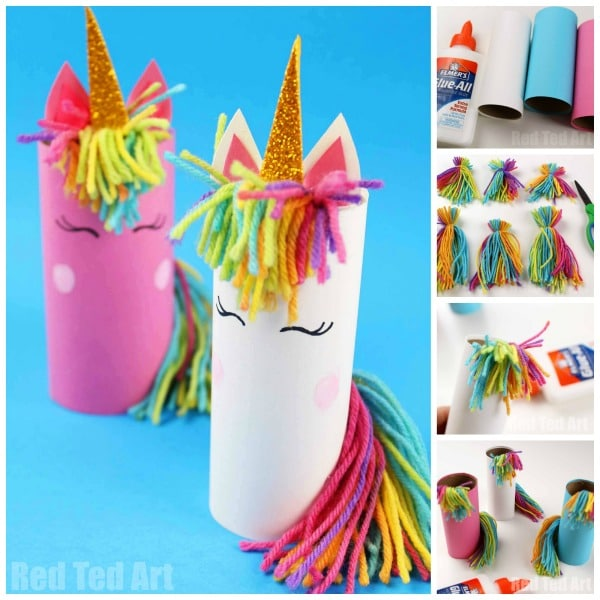 unicorn toilet paper roll craft toilet paper roll unicorn for preschoolers ted s 7274