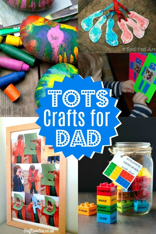 Collage of Preschool Father's Day Craft Ideas