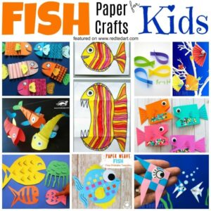Paper Fish Weaving Craft - Simple Paper Fish Craft for Kids. A super cute DIY Fish Decoration for summer. Great for Summer collages or as little ornaments #Fish #Ornaments #paper #papercrafts
