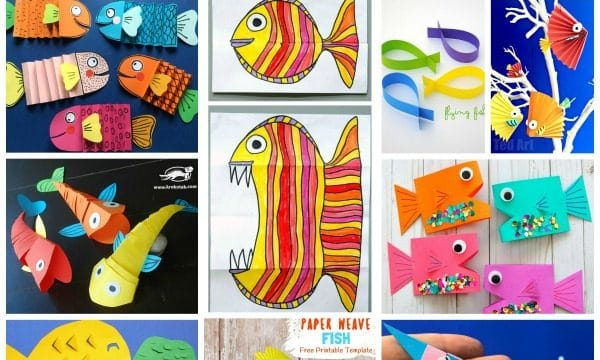DIY Paper Fish Crafts