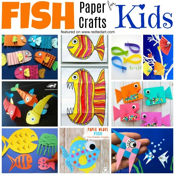 Diy Paper Fish Crafts Red Ted Art S Blog