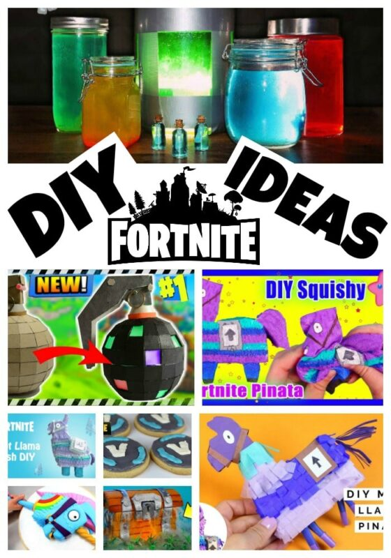 DIY Fortnite Party Crafts - make an easy Fortnite Llama Pinata with paper and cardstock. Fun DIY Fortnite Crafts for kids and adults. #Fortnite