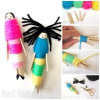How to Make Worry Dolls with Pegs