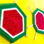 DIY Watermelon God's Eye Weaving for Kids