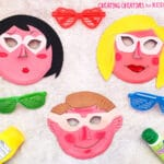 Summer Paper Plate Masks