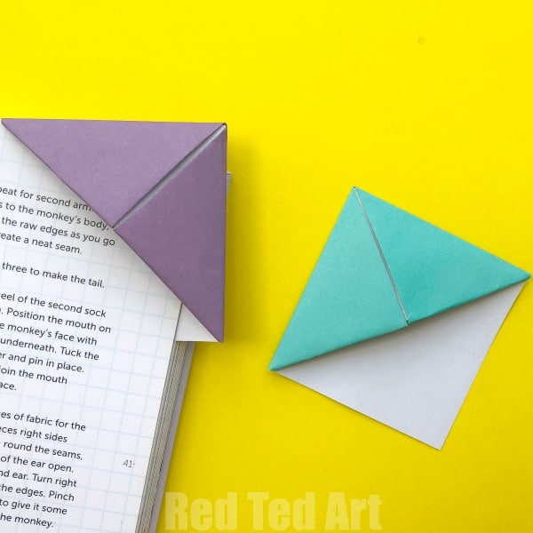 How To Make An Origami Bookmark Corner Red Ted Arts Blog